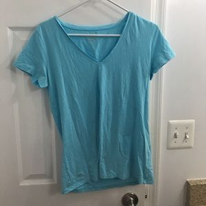 Lilly Pulitzer Michele Shorely Blue V-neck Top M